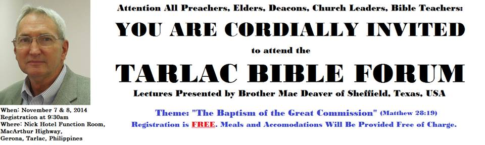 Tarlac Bible Forum